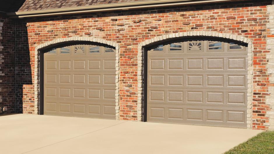 Superbe CHI 2216 In Bronze With Optional Sunburst Windows. This CHI Garage Door ...
